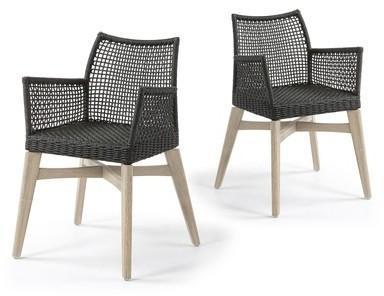 Lot de 2 chaises avec accoudoirs