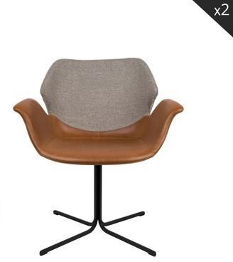 Lot de 2 chaises design Nikki