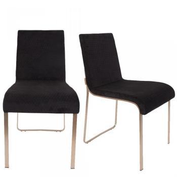 Lot de 2 chaises vintage tissu