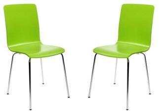 Lot de 2 chaises design cuisine