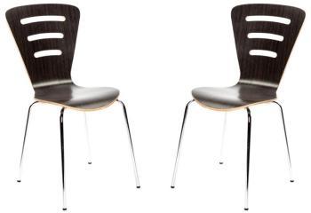 Lot de 2 chaises design empilables
