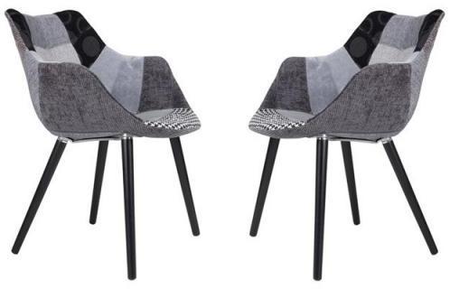 Lot de 2 chaises capitonnées