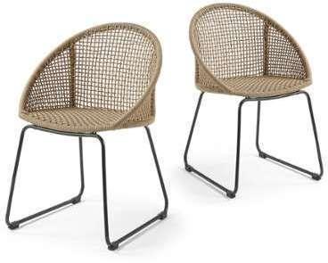 Lot de 2 chaises métal et