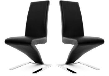 Lot de 2 chaises design noires