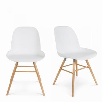 Lot de 2 chaises résine et