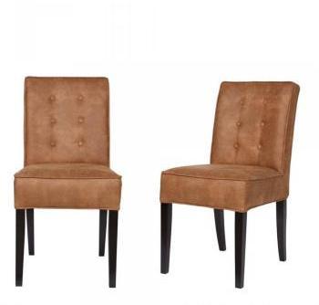 Lot de 2 chaises vintage marron