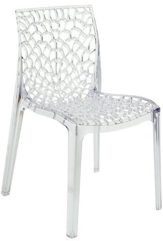Chaise empilable GRUVYER Transparent