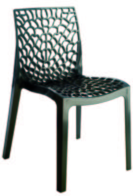 Chaise empilable GRUVYER Anthracite