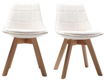 Lot de 2 chaises design scandinave