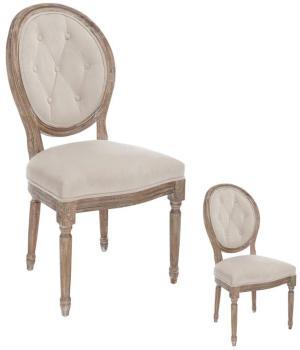 Duo de chaises garnies Louis