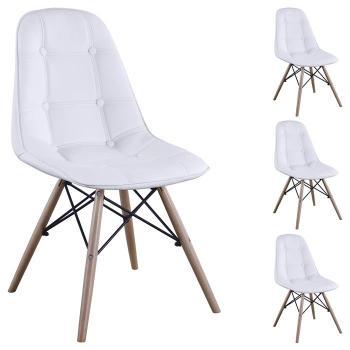 Lot de 4 chaises CESAR blanc