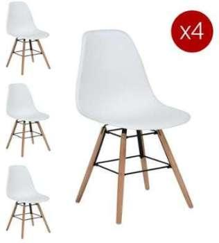 Lot de 4 chaises scandinaves
