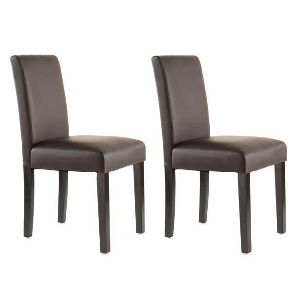 Catgorie chaises de salle manger du guide et comparateur d for Chaise salle a manger marron