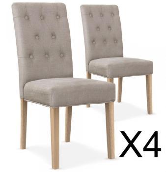 Lot de 4 chaises capitonnées