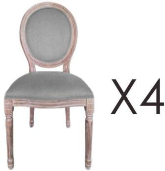 Lot de 4 chaises médaillon