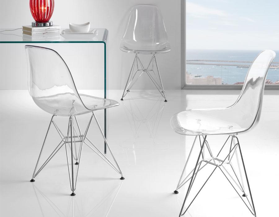 conforama chaise transparente delphes transparent. Black Bedroom Furniture Sets. Home Design Ideas