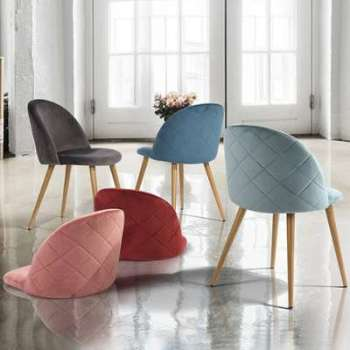 Chaise scandinave velours