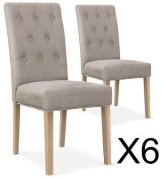 Lot de 6 chaises capitonnées