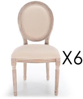 Lot de 6 chaises médaillon