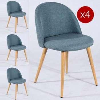 Lot de 2 Chaise scandinave