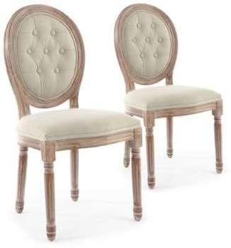 Lot de 2 chaises de style