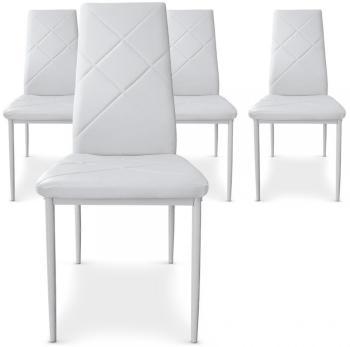 Lot de 4 chaises Paule Blanc