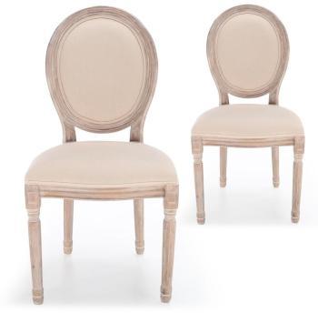 Lot de 2 chaises médaillon
