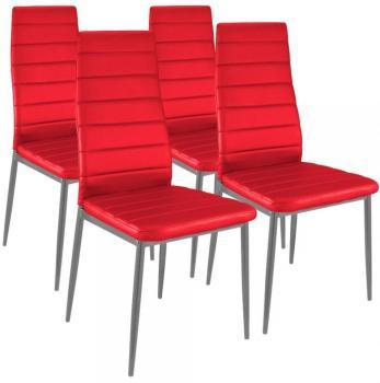 Lot de 4 chaises Strip Rouge