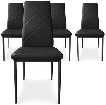 Lot de 4 chaises Paule Noir