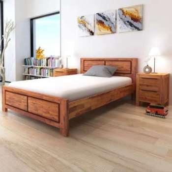 VidaXL Cadre de lit avec armoires