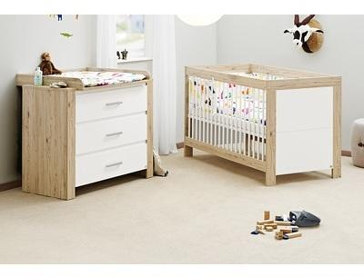 pinolino censemble lit volutif 70 x 140 cm et commode cand. Black Bedroom Furniture Sets. Home Design Ideas