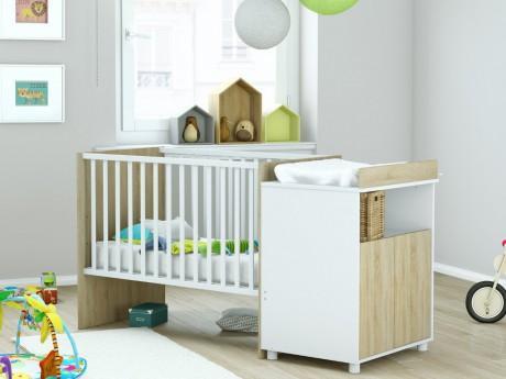 Lit bébé évolutif ROMY - 60x120