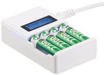 Chargeur rapide pour 4 accumulateurs