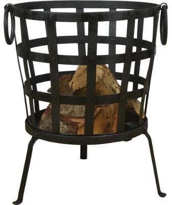 Brasero panier à bois en métal