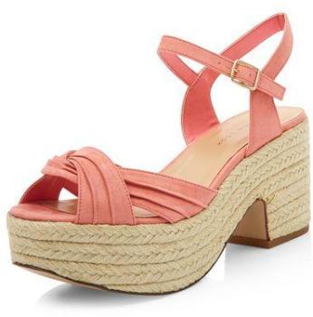 Sandales façon espadrille