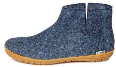 Bottine-bleu jean