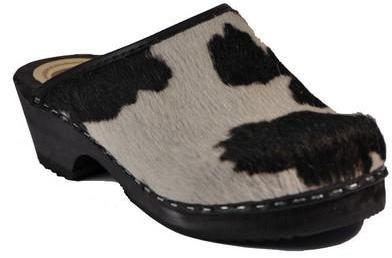 Sabots Peau de vache noire