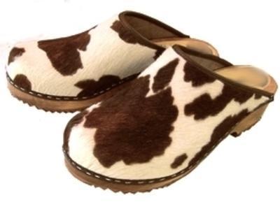 Sabots vache brune H