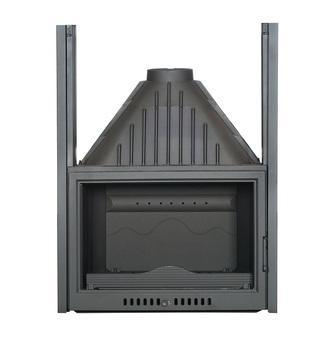 Insert foyer de cheminée ouverture