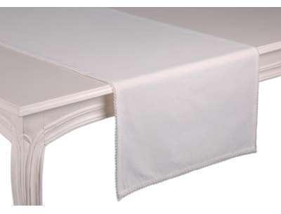 Chemin de table blanc Capucine