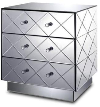 Chevet miroir 3 tiroirs -