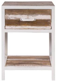 Table de chevet bois et métal