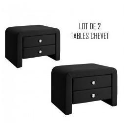 Table chevet design noir Eva