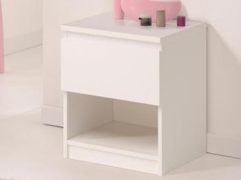 Chevet NOE 1 tiroir blanc