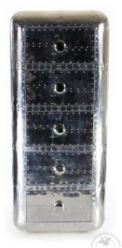Chiffonnier design Alu 5 tiroirs