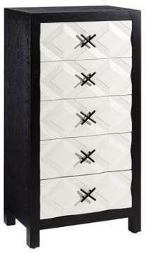 Chiffonnier 5 tiroirs Noir