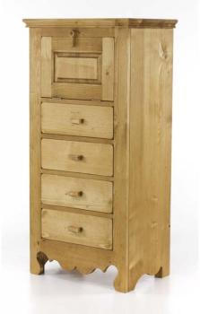 couleurs chiffonnier montriond en pin massif. Black Bedroom Furniture Sets. Home Design Ideas
