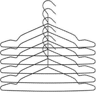 Twisted - Set de 6 cintres