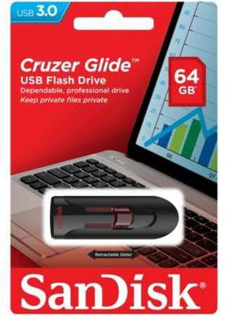 sandisk cruzer edge cl usb 64 go usb 2 0 noir rouge. Black Bedroom Furniture Sets. Home Design Ideas