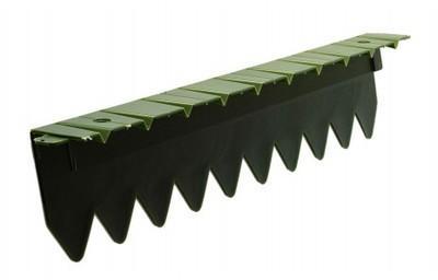 Bordure stop herbe avec rebord